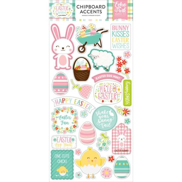 Echo Park - Easter Wishes 6x13 Chipboard - Accents