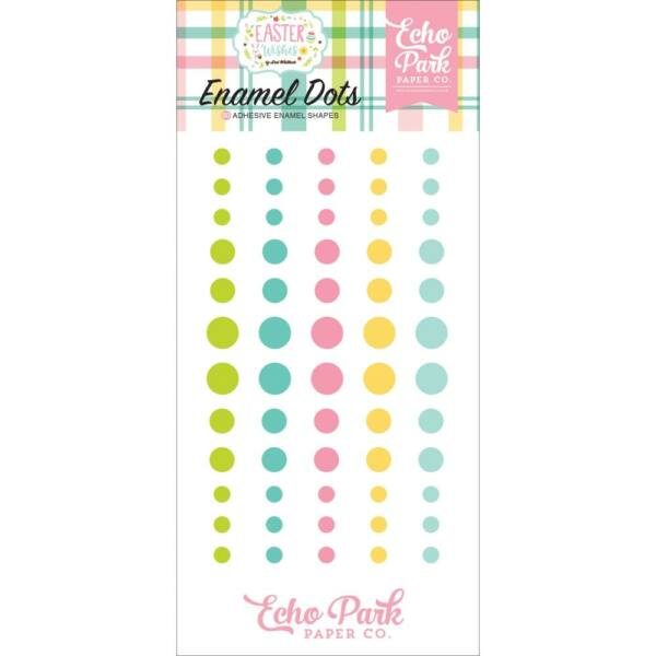 Echo Park - Easter Wishes Enamel Dots (60 Pieces)