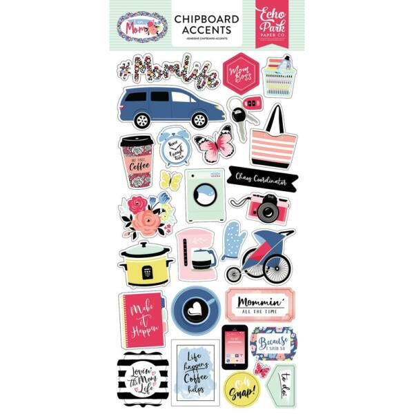 Echo Park - I Am Mom 6x13 Chipboard - Accents
