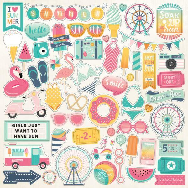 Echo Park - Summer Dreams 12x12 Stickers