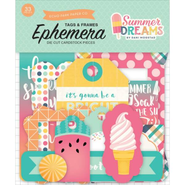 Echo Park - Summer Dreams Ephemera Tags & Frames