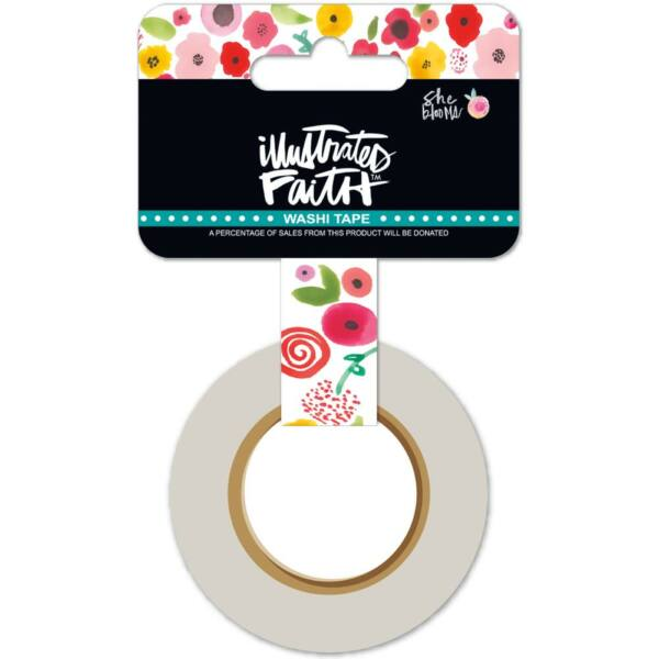 Illustrated Faith - She Blooms washi tapasz