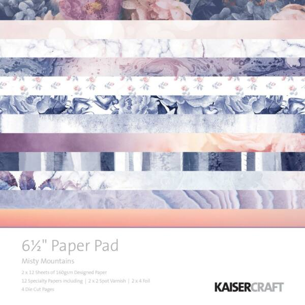 Kaisercraft Misty Mountains - 6.5x6.5 Paper Pad