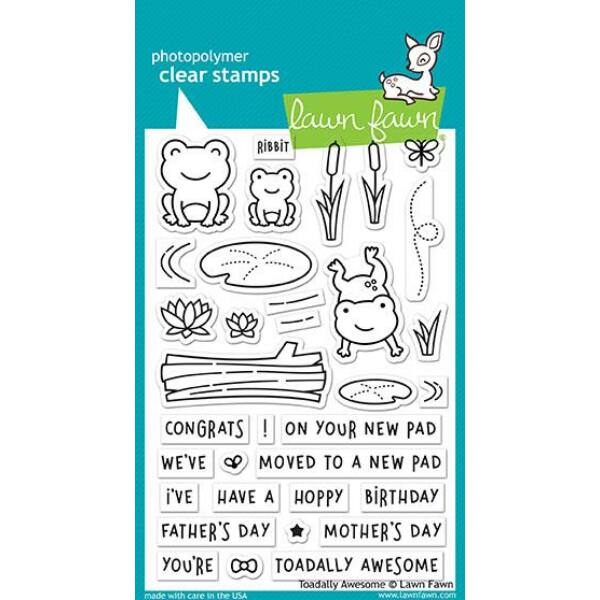 Lawn Fawn 4x6 Clear Stamp - Toadally Awesome