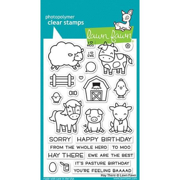 Lawn Fawn 4x6 Clear Stamp - Hay There