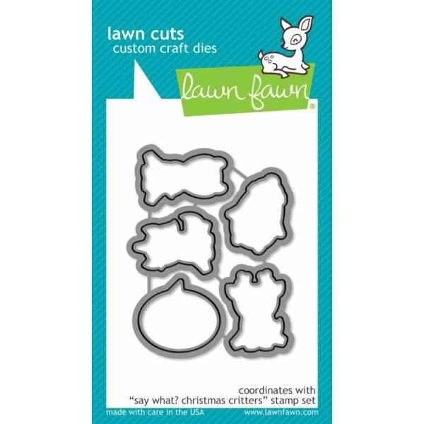 Lawn Fawn Die Set - Say What? Christmas Critters