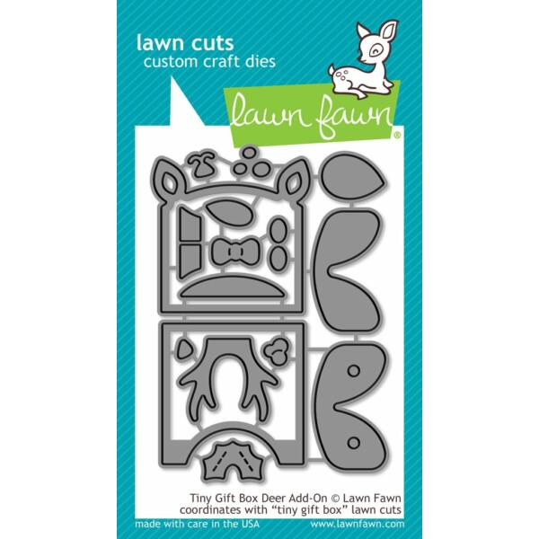 Lawn Fawn Die Set -Tiny Gift Box Deer Add-on
