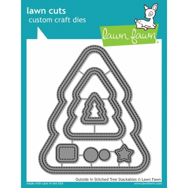 Lawn Fawn Die Set - Outside in Stitched Christmas Tree Stackables