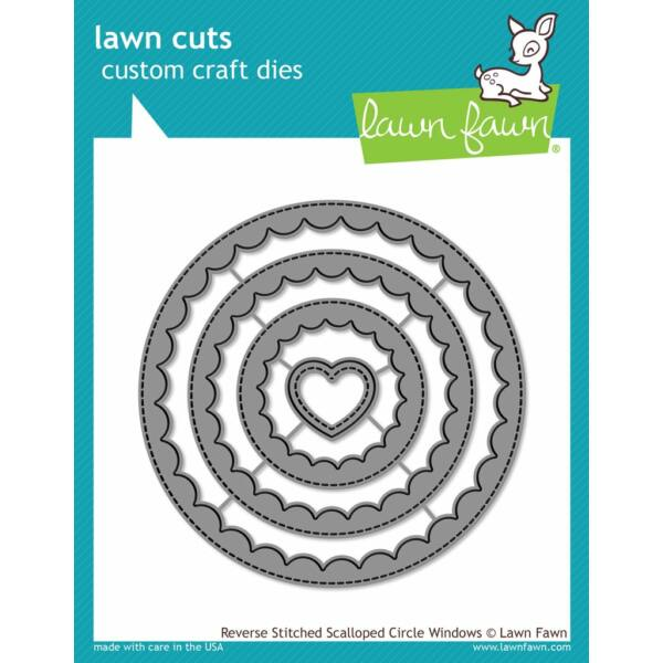 Lawn Fawn Die Set - Reverse Stitched Scalloped Circle Windows