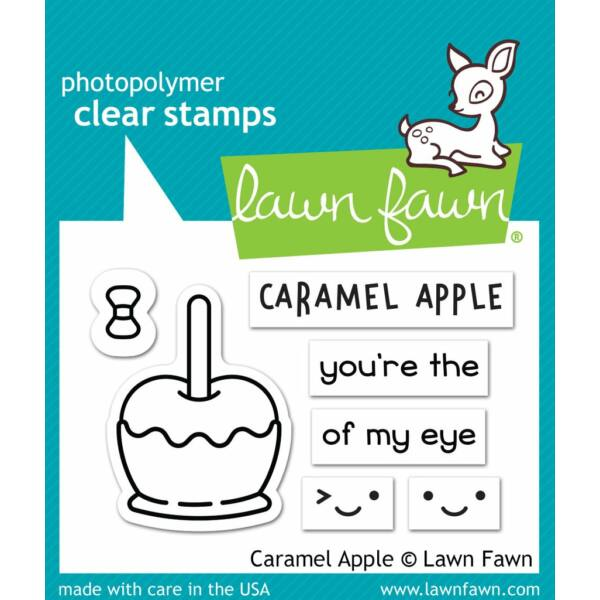 Lawn Fawn 2x3 Clear Stamp - Caramel Apple