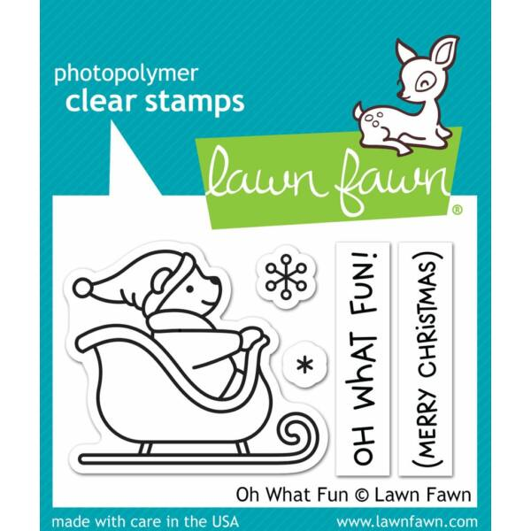 Lawn Fawn 2x3 Clear Stamp - Oh What Fun