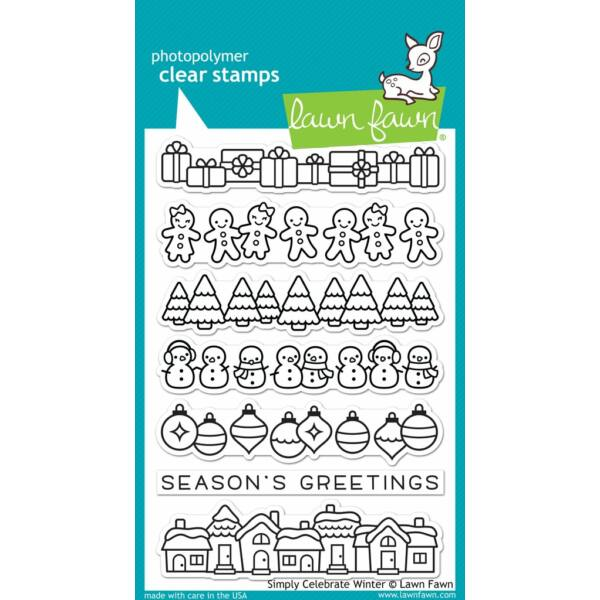 Lawn Fawn 4x6 Clear Stamp - Simply Celebrate Winter