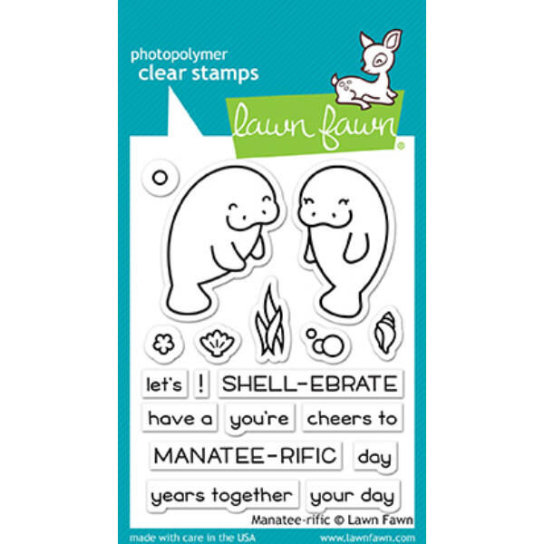 Lawn Fawn 3x4 Clear Stamp - Manatee-rific
