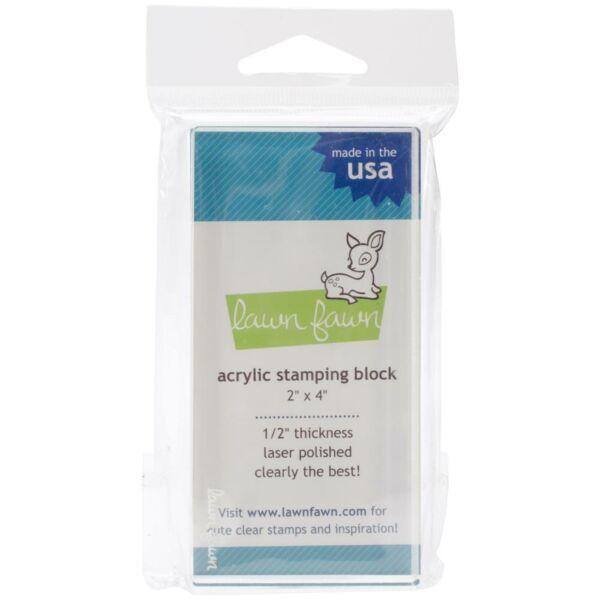Lawn Fawn Acrylic Stamping Block 2x4