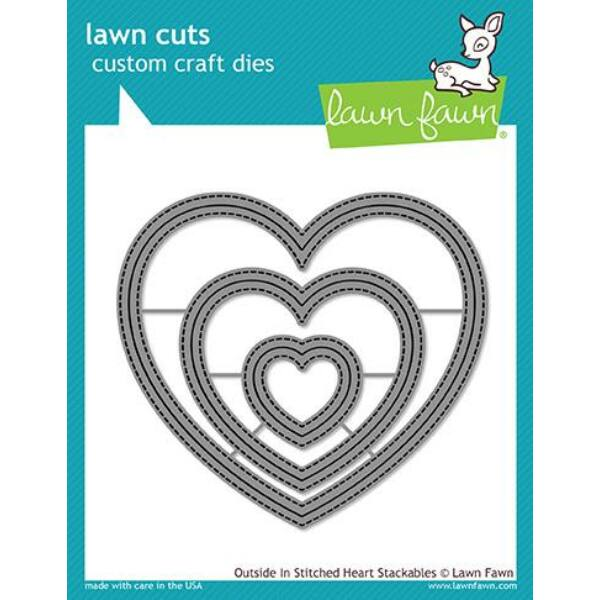 Lawn Cuts - Outside In Stitched Heart Stackables