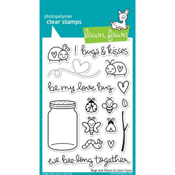 Lawn Fawn 4x6 Clear Stamp - Bugs and Kisses