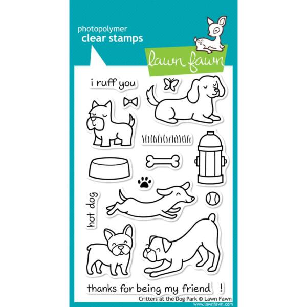 Lawn Fawn Clear Stamp - Critters at the Dog Park