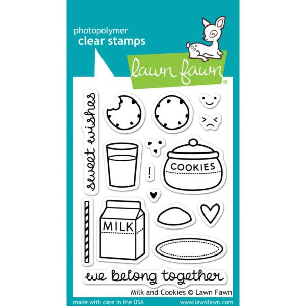 Lawn Fawn Clear Stamp - Milk and Cookies