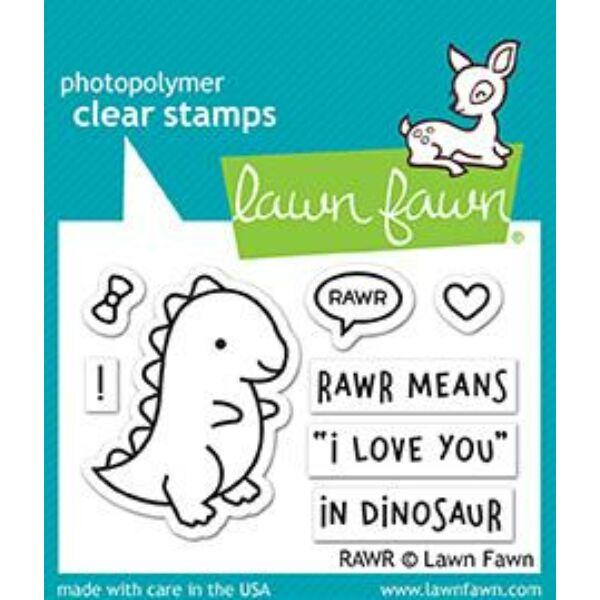 Lawn Fawn 2x3 bélyegző - Rawr