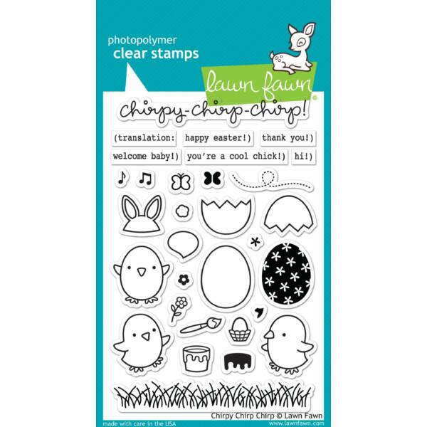 Lawn Fawn Clear Stamp - Chirpy Chirp Chirp
