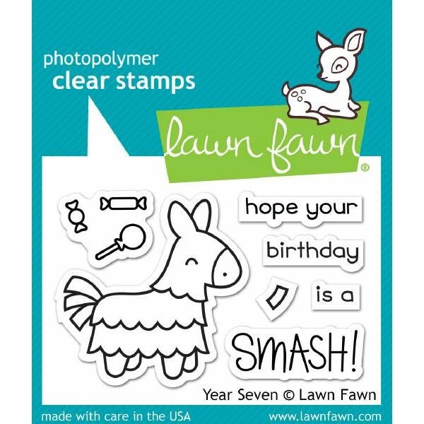 Lawn Fawn Clear Stamp - Year Seven