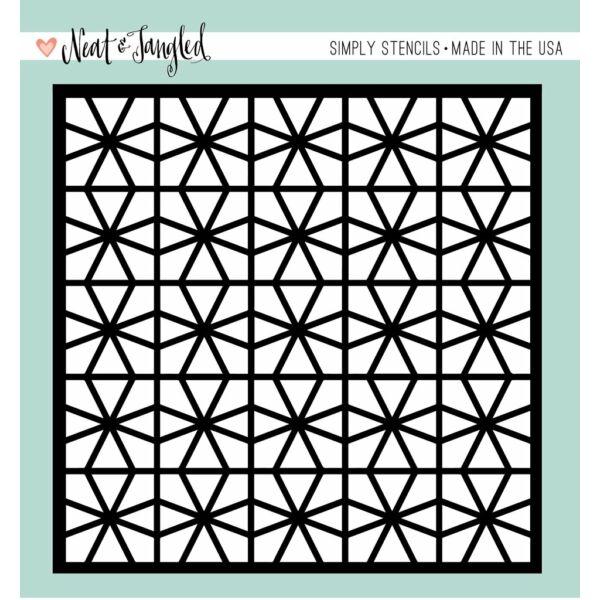 Neat & Tangled Stencil - Geometric Circles