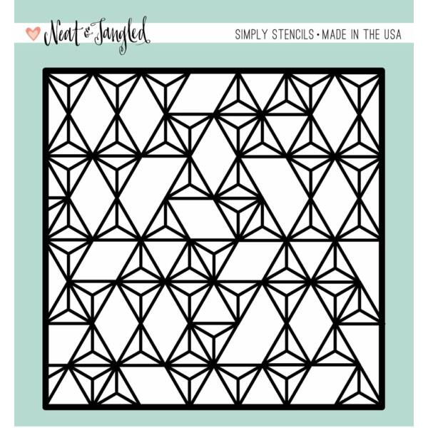 Neat and Tangled Simply Stencils - Modern Triangles
