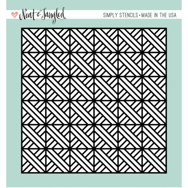 Neat and Tangled Simply Stencils - Parquet