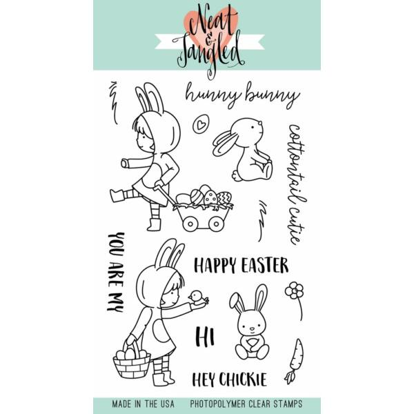 Neat & Tangled 4x6 Stamp Set - Cottontail Cuties