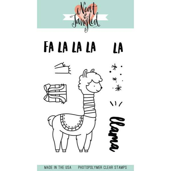 Neat & Tangled 3x4 Stamp Set - Fa La Llama
