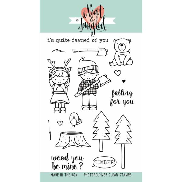 Neat & Tangled 4x6 Stamp Set - Lumberjack Love