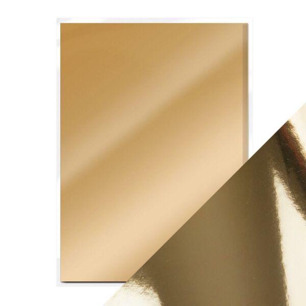 Craft Perfect - Mirror Card - Harvest Gold A4 5pcs