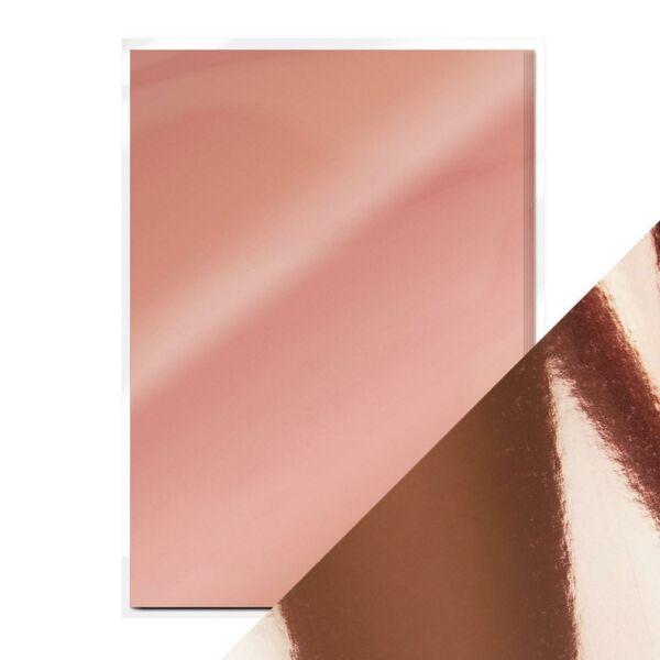 Craft Perfect - Mirror Card - Rose Platinum A4 5pcs