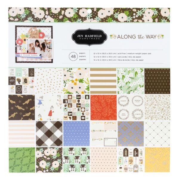 Pebbles - Jen Hadfield - Along The Way 12x12 Paper Pad 48 Sheets