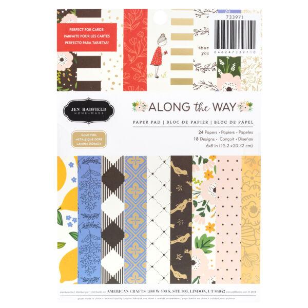 Pebbles - Jen Hadfield - Along The Way 6x8 Paper Pad 24 Sheets