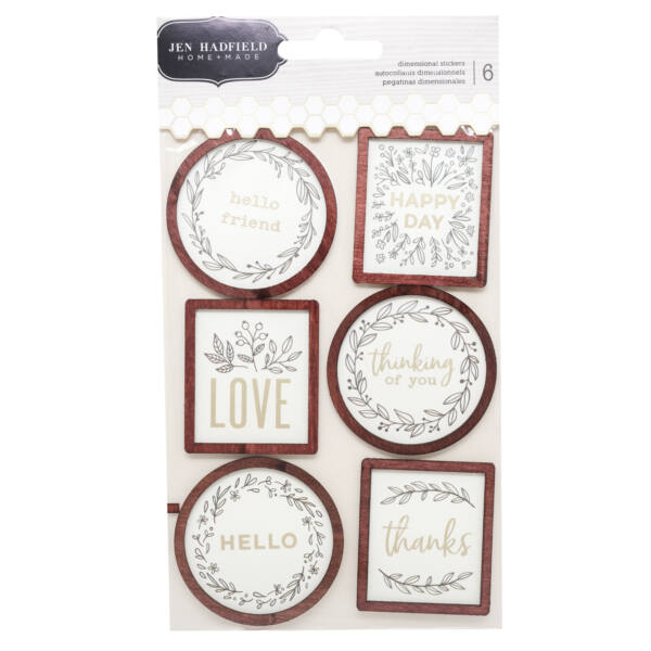 Pebbles - Jen Hadfield - Along The Way Wood Frame Stickers (6 Piece)