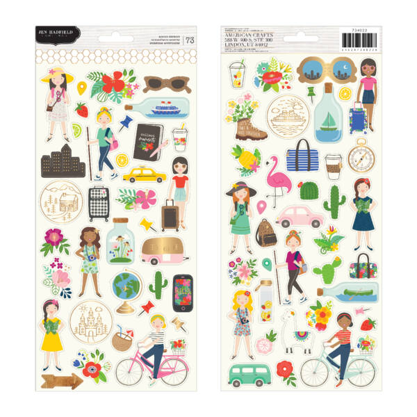 Pebbles - Chasing Adventures 6x12 Sticker Sheet (73 Piece)