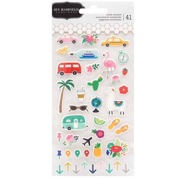 Pebbles - Chasing Adventures Puffy Stickers (41 Piece)