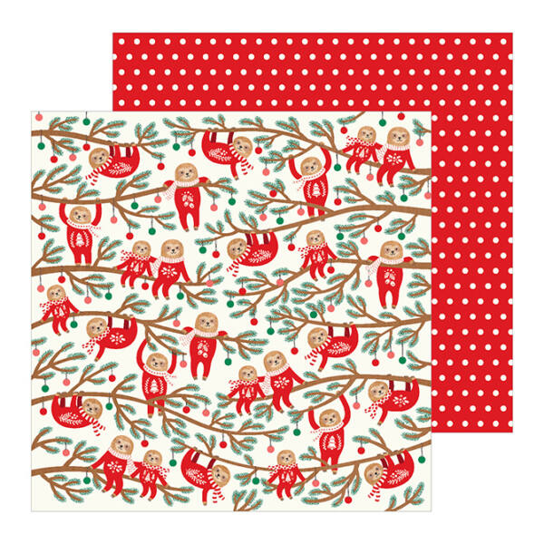 Pebbles - Cozy & Bright 12x12 Paper - Jingle All The Way