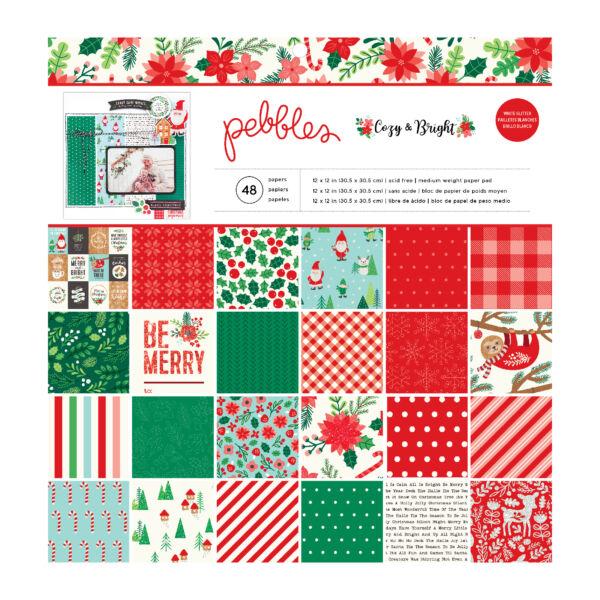 Pebbles - Cozy & Bright 12x12 Paper Pad