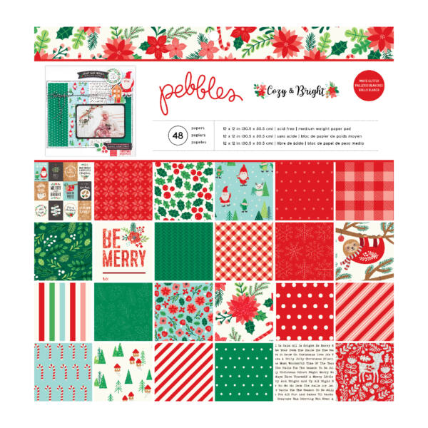 Pebbles - Cozy & Bright 12x12 Paper Pad