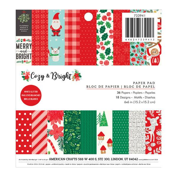 Pebbles - Cozy & Bright 6x6 Paper Pad