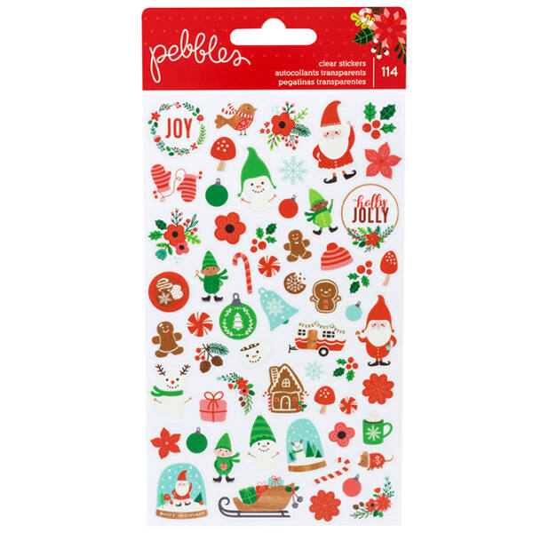 Pebbles - Cozy & Bright Clear Stickers 114/Pkg