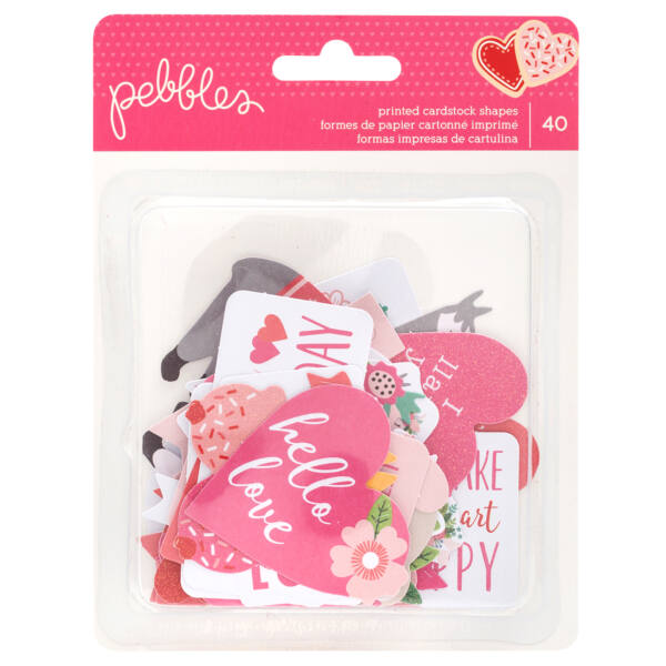 Pebbles - Loves Me Quote Ephemera (40 Piece)