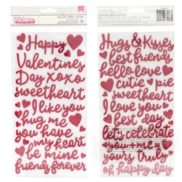Pebbles - Loves Me Foam Phrase Thickers (85 Piece)