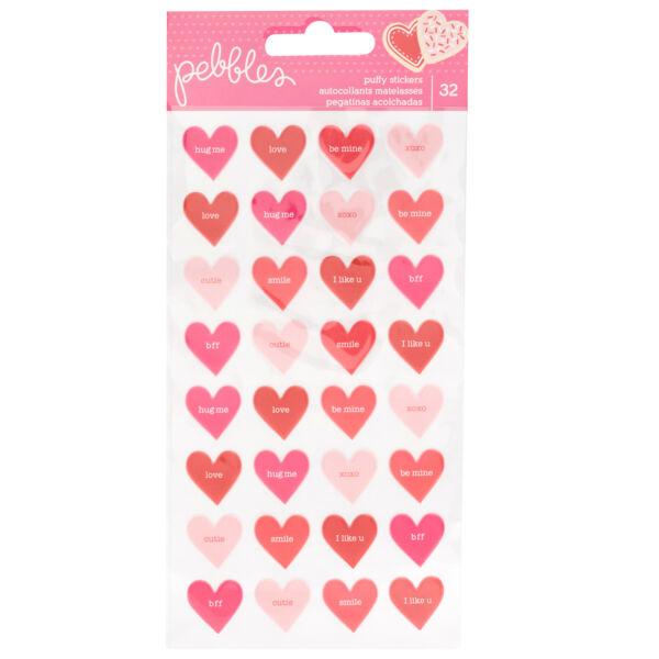 Pebbles - Loves Me pufi szívek (32 db)