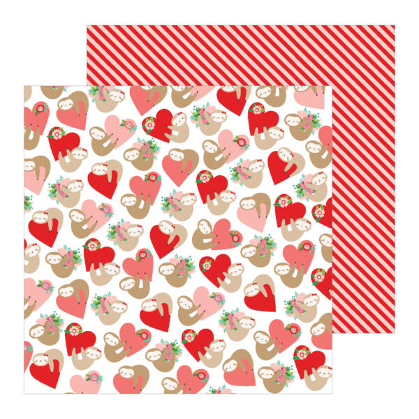 Pebbles - Loves Me 12x12 Patterned - Paper Huggably Yours