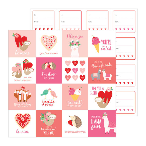 Pebbles - Loves Me 12x12 Patterned - Paper Be Mine