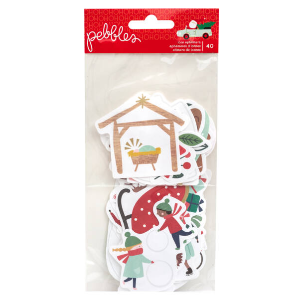 Pebbles - Merry Little Christmas Icon Ephemera (40 Piece)