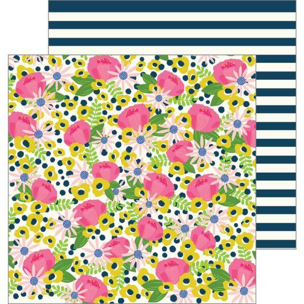 Pebbles - My Bright Life 12x12 Paper - Flower Market
